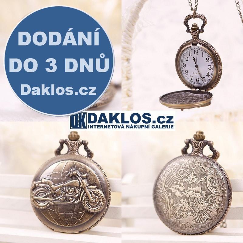 Kapesní přívěskové hodinky s motorkou / motocykl DKAP041440