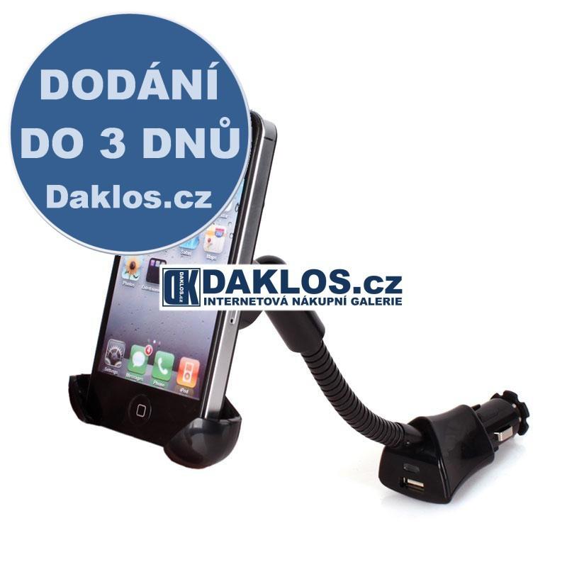 2v1 Držák a nabíječka na telefon do auta pro iPhone 5S 5 Galaxy S4 SIV HTC One DKAP051795