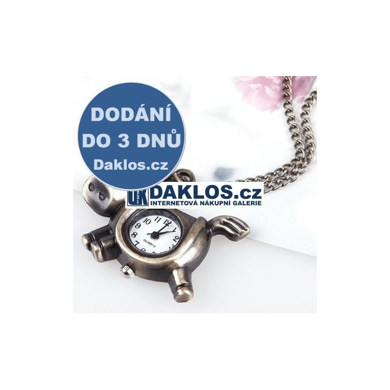 Hodinky jako přívěsek na řetízku / Kapesní - kůň DKAP028103