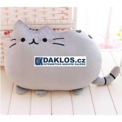Polštář pusheen - kočka / ve tvaru kočky / Plyš