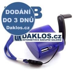 Externí USB nabíječka / LED svítilna / DYNAMO / pro mobil / tablet