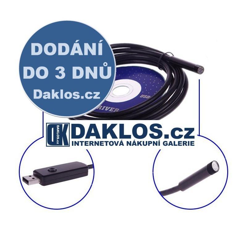 2M - Voděodolný endoskop USB LED Kamera DKAP039270
