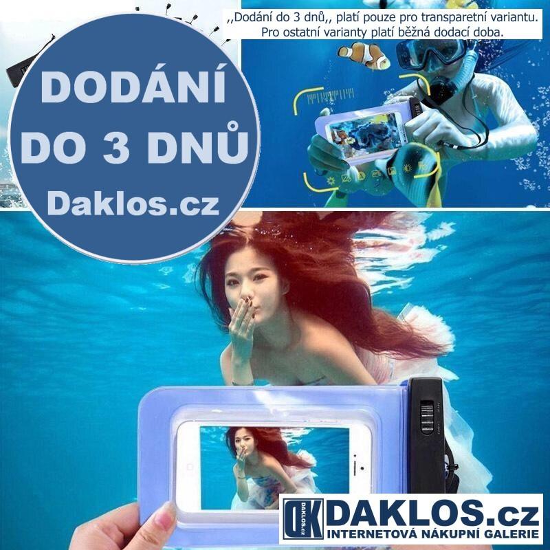 Voděodolný / Vodotěsný obal pro telefony a jiné drobné věci, Barva Černá DKAP071484
