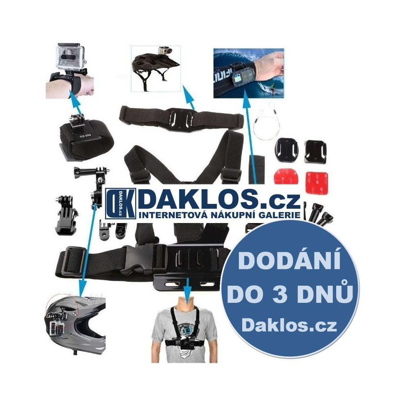 Sada příslušenství pro GoPro HERO 3+/3/2/1 - Extrémní sporty DKAP046241