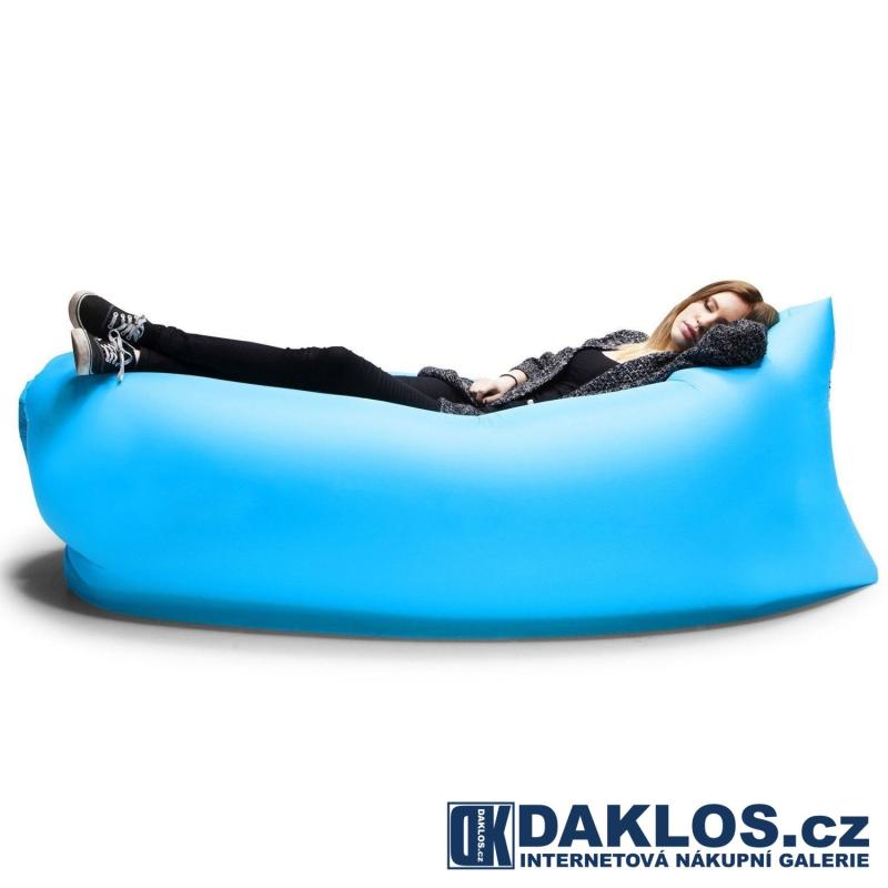 Nafukovací sedací / spací pytel v cestovním balení, Barva Černá DKC182139142213
