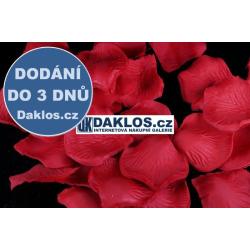 Okvětní lístky růže - 100 kusů - Červená