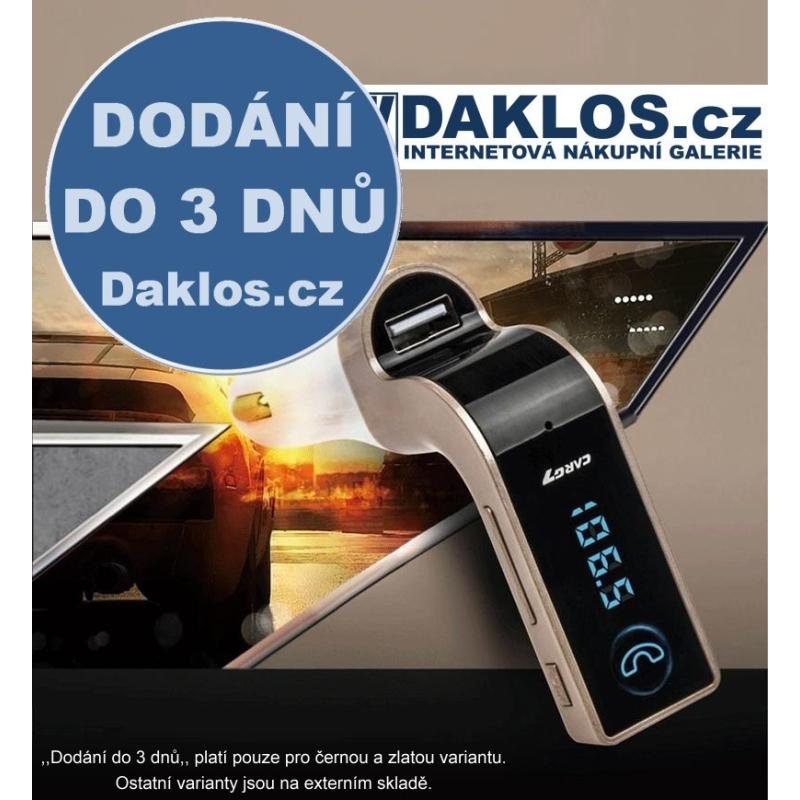 FM Bluetooth transmitter s USB / microSD / Hands-free, Barva Černá DKAP070023