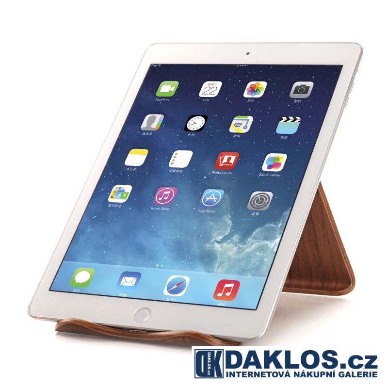 Exkluzivní dřevěný stolní držák / stojánek na iPhone / telefon / iPad / tablet, Barva Světle hnědá DKC231955972243