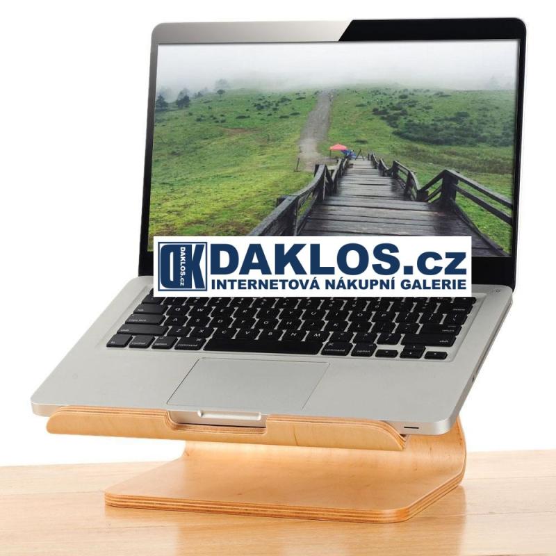 Exkluzivní dřevěný velký stolní držák / stojánek na MacBook / notebook / iPad / tablet / laptop - světlé dřevo DKC361579400249