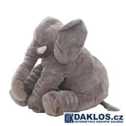 Velký gigantický - 60 cm - plyšový šedý slon