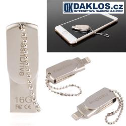 Mini USB Flash disk OTG 16 GB pro IOS iPhone / iPad / iPod - kovová
