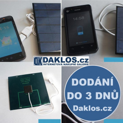 Solární nabíječka / článek s USB pro tablet / telefon