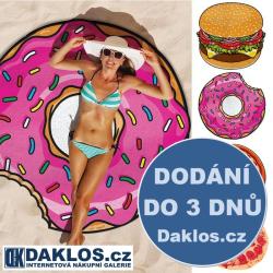 Plážová šála PAREO - Hamburger / Pizza / Nakousnutý donut / Šálka americká kobliha