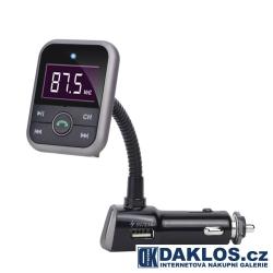 Bluetooth FM transmitter / Nabíjčka 2.1A s LCD displejem do auta / MP3 / 12 V s dálkovým ovladačem / Hands-free