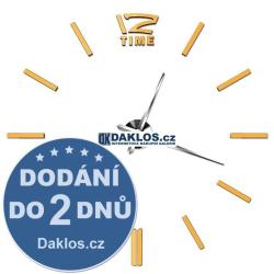 Velké nalepovací 3D nástěnné analogové hodiny - 12 - zlaté