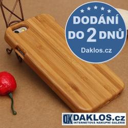 Dřevěný kryt pro Apple iPhone 6 6S Plus - uhlíkový bambus