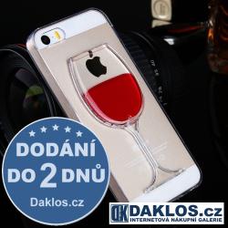 Kryt pro Apple iPhone 5C - sklenička vína s tekutinou