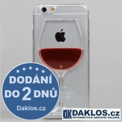 Kryt pro Apple iPhone 6 6S - sklenička vína s tekutinou