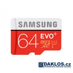 Micro SD 64 GB Samsung EVO Class 10 + adapter zdarma