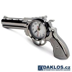 Stolní hodiny / budík - Zbraň / Revolver