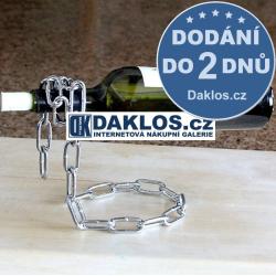 Držák / Stojan na lahev vína - řetěz / pro víno