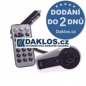 Bluetooth MP3 FM transmitter do auta / 12 V s dálkovým ovladačem / Hands-free
