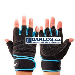 Rukavice na posilování / sport - modrá / černá