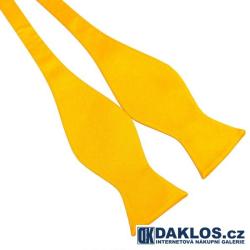 Elegantní žlutý / zlatý vázací motýlek