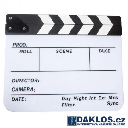 Filmová klapka - bílá