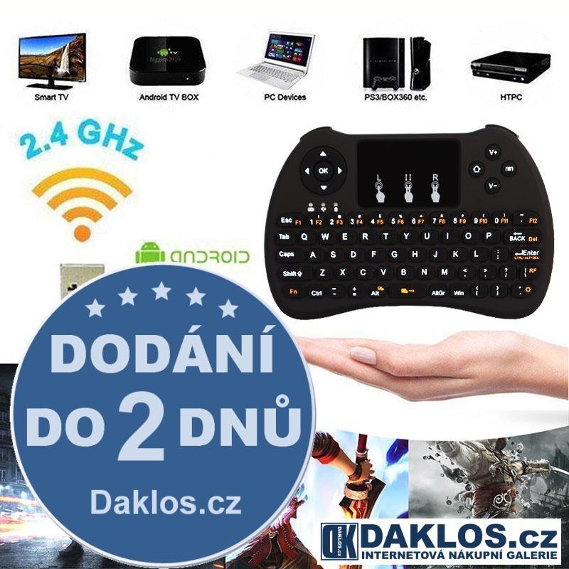 Bezdrátová klávesnice H9 - 2,4 GHz pro SMART TV, PC, Tablet, Notebook
