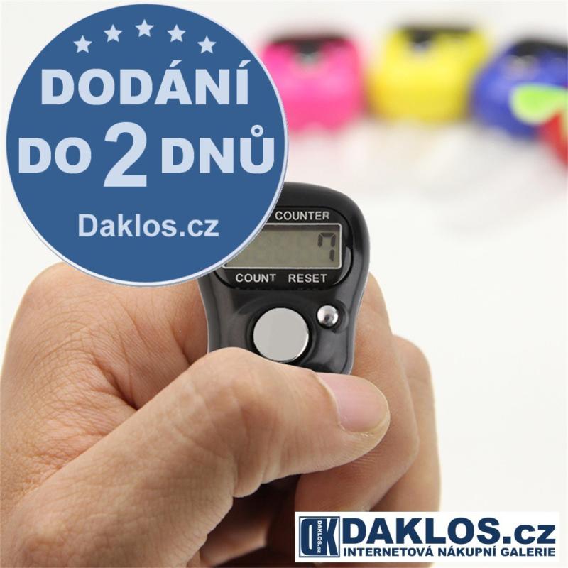 Digitální prsten sčítátko skóre nejen na GOLF - 00000 až 99999, Barva Černá