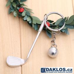 Přívěsek GOLF - hole (železo) a golfový míček
