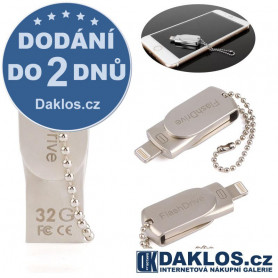 Mini USB Flash disk OTG 32 GB pro IOS iPhone / iPad / iPod - kovová