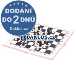 Dřevěné cestovní šachy / Skládací šachovnice
