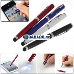 4v1 - Propiska / Pisátko / dotykové pero / stylus / Laser / LED svítilna