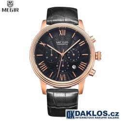 Luxusní hodinky MEGIR ve zlato černém provedení