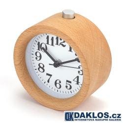 Dřevěný digitální budík / hodiny - kulatý