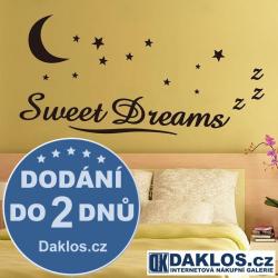 Nálepka / Samolepka na stěnu - Sladké sny - Sweet Dreams