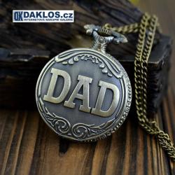Retro přívěskové kapesní hodinky ,,DAD,,