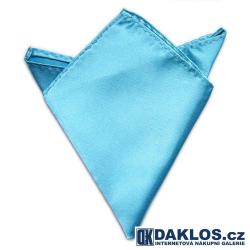 Společenský kapesníček / kapesník do saka - nebesky světle modrá