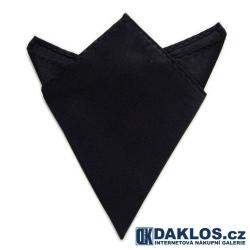 Společenský kapesníček / kapesník do saka - černý