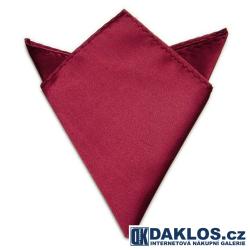Společenský kapesníček / kapesník do saka - bordový / tmavě červený