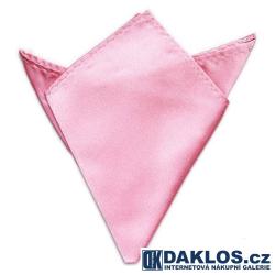 Společenský kapesníček / kapesník do saka - růžový