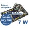 Externí USB solární nabíječka 7W solární panel / 5,5V / článek / skládací / přenosná