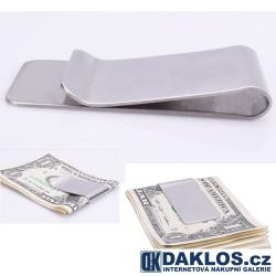 Elegantní spona na papírové peníze a karty