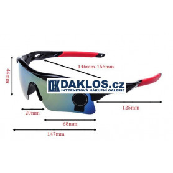 Sportovní / Cyklistické brýle - různé varianty
