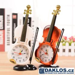Stolní hodiny / budík - Viola / Housle pro muzikanty a milovníky hudby
