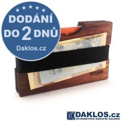 Super tenká dřevěná ručně vyrobená peněženka - ořech