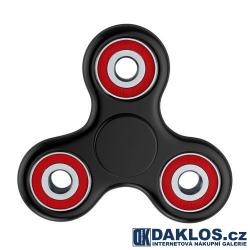Fidget Spinner / Spinee proti stresu / Antistresové ložisko - černo červené