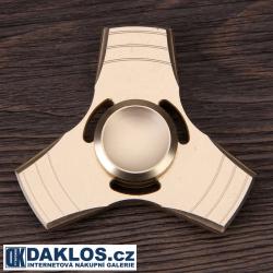 Kovový zlatý Fidget Spinner / Spinee proti stresu / Antistresové ložisko